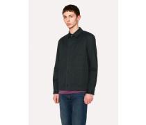 Dark Green Stretch Cotton-Twill Chore Jacket
