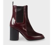 Bordeaux Leather And Calf Hair 'Deva' Boots