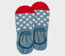 Light Blue Polka Dot Loafer Socks