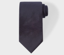 Navy Pin Dot Silk Tie With 'Naked Lady' Lining