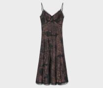 Black 'Ocean' Embroidered Silk-Blend Dress