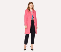 Bright Pink Wool-Cashmere Epsom Coat