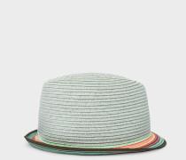 Light Blue Trilby Hat With 'Artist Stripe' Brim