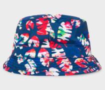 Blue 'Palm Leaf' Bucket Hat