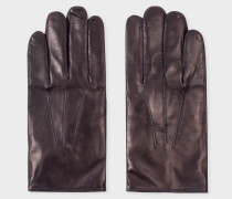 Navy Leather Gloves