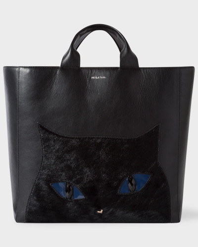 Paul Smith Damen Black Leather 'Cat' Tote Bag