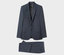 Mid-Fit Slate Grey Wool Suit