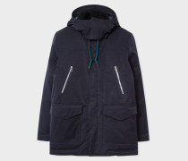 Navy Down-Filled Parka