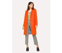 Orange Wool-Cashmere Epsom Coat