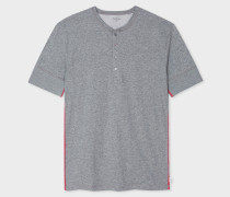Grey Jersey Short Sleeve Henley Top