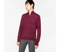 Burgundy Merino Wool Funnel Neck Sweater