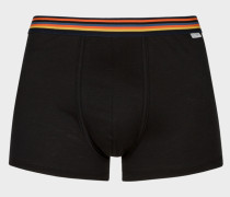 Black Low-Rise Boxer Briefs With 'Artist Stripe' Waistband