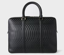 No.9 - Black Leather Slim Business Folio