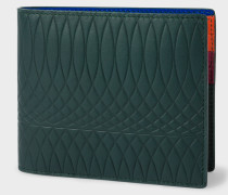 No.9 - Dark Green Leather Billfold Wallet With Multi-Coloured Interior