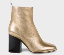 Gold Leather 'Egan' Boots