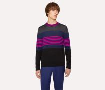 Colour-Block Striped Merino-Wool Sweater
