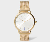 Unisex White And Gold 'Ma' Watch