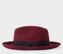 Burgundy 'Mayfair' Wool Fedora Hat
