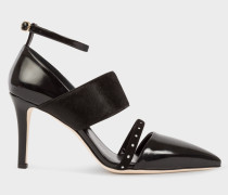 Black Leather And Calf Hair 'Nora' Shoes