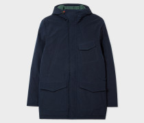 Navy Down-Filled Micro-Ripstop Parka