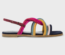 Multi-Coloured Suede 'Carlin' Sandals