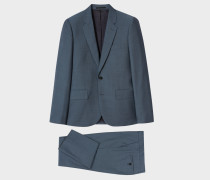 The Soho - Tailored-Fit Slate Blue Wool-Mohair Suit
