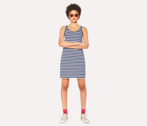 Navy And White Breton-Stripe Cotton Dress