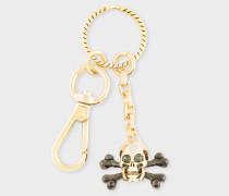 Gold Skull And Crossbones Keyring