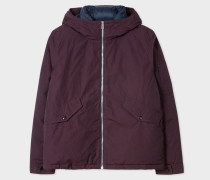 Damson Cotton-Blend Down-Filled Hooded Jacket