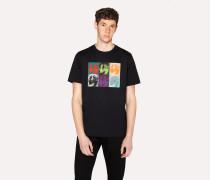 Black Organic-Cotton 'Dogs' Print T-Shirt