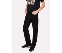 Standard-Fit 12oz 'Super Black' Stretch-Denim Zip Fly Jeans