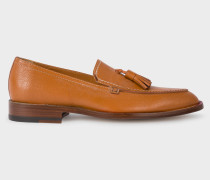 Tan Leather 'Alexis' Loafers