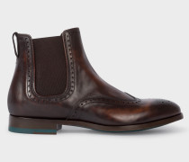 Dark Brown Leather 'Bedford' Chelsea Boots