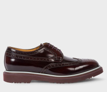 Burgundy High-Shine Leather 'Crispen' Brogues