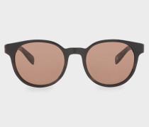 Brown Horn And Brown 'Wayden' Sunglasses