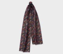 'Psychedelic Sun' Print Silk-Blend Tubular Scarf