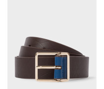 No.9 - Chocolate Leather Belt With Contrast End