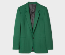 Slim-Fit Green Wool Jacket