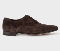 Brown Suede 'Waverly' Semi-Brogues