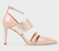 Pink And Gold Patent Leather 'Nora' Shoes