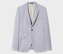Slim-Fit Grey Violet Wool Blazer