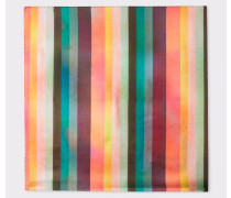 Large 'Artist Stripe' Silk Pocket Square