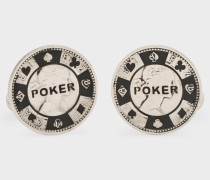 Silver Poker Chip Cufflinks