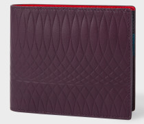 No.9 - Damson Leather Billfold Wallet With Multi-Coloured Interior