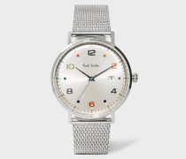 Stainless Steel 'Gauge Colour' Watch