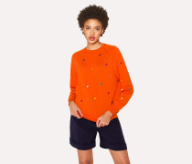 Orange 'Ice Lolly' Wool Sweater