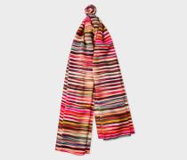 'Crossover Stripe' Silk Scarf