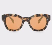 Brown Confetti And Peach Gold Mirror 'Dennett' Sunglasses