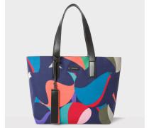 'Marble' Print Canvas Tote Bag