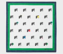 White 'Zebra' Print Pocket Square